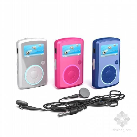 VCD播放器3D模型资料下载-小巧MP3播放器3D模型