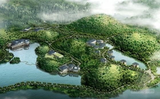 单体建筑酒店设计资料下载-[广东]新中式酒店规划及单体建筑设计方案(高档度假村)