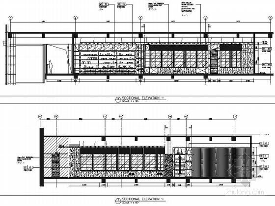 [浙江]全球国际化金融中心高档现代风格综合性酒店装修施工图(含效果)全日餐厅立面图