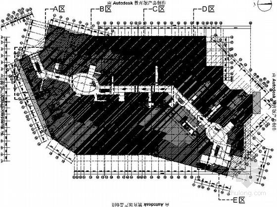 [合肥]前卫时尚商业广场室内公共空间施工图(含高清效果图)