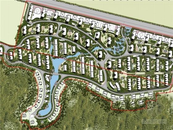 [大连]ArtDeco建筑风格居住区景观方案规划设计