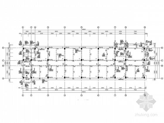 4层框架实验楼结构施工图(桩基础)