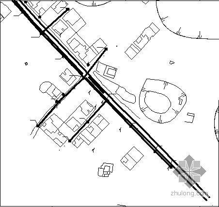 国外某工程的排污管线设计图
