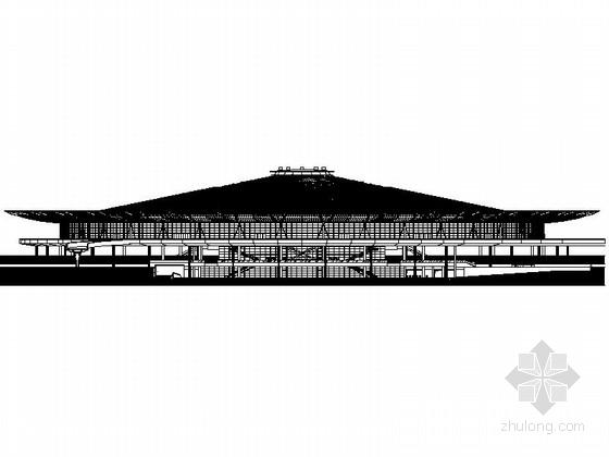 [上海]大型现代风格交通枢纽站设计施工图
