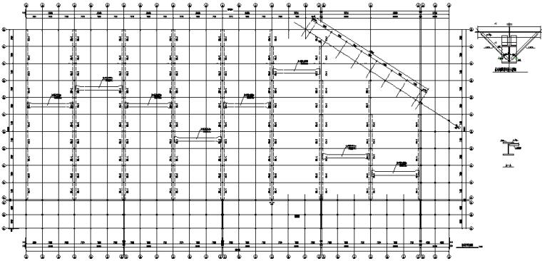 车间吊车梁系统施工图(CAD,2张)