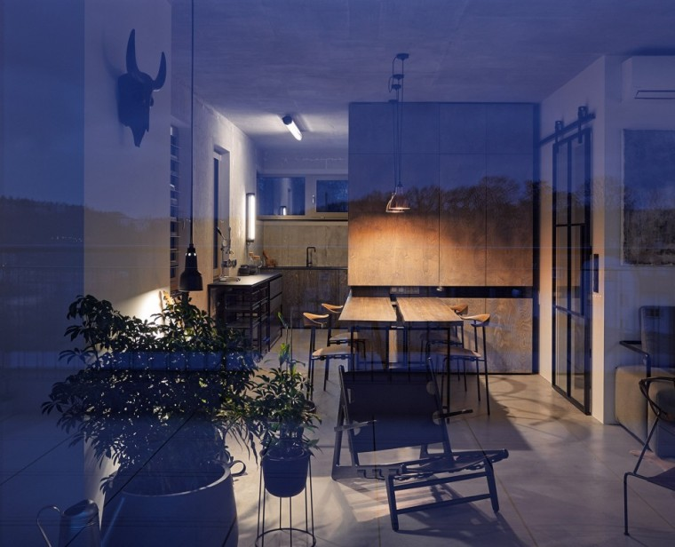 """""""非典型""""工业风-布拉格公寓设计_13"""