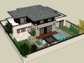 精致别墅景观设计(SU模型)