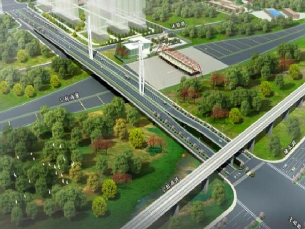 重磅!江宁文靖路跨宁杭高速桥梁工程正式开工!