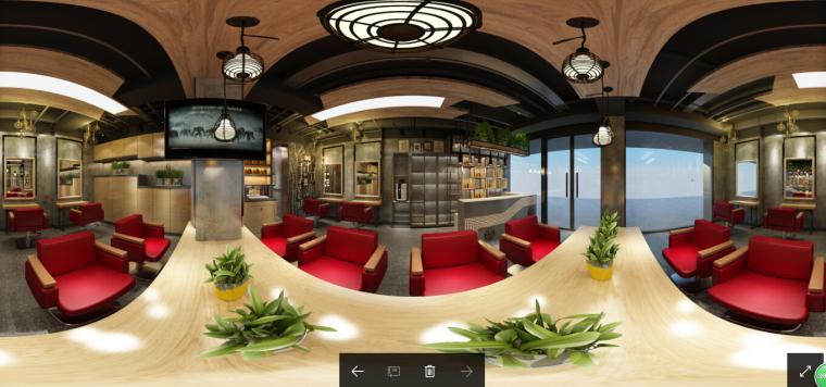 [杭州]现代工业风理发店设计施工图(含效果图)_3