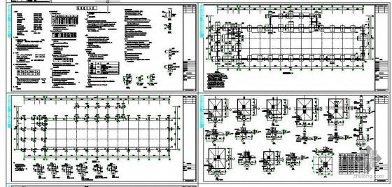 某排架厂房结构图