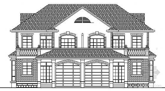 某二层双拼联排别墅设计方案(L2对称设计)