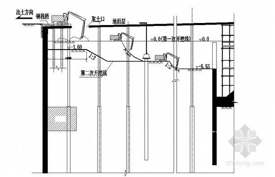 裙房逆作法施工程序(CAD图)
