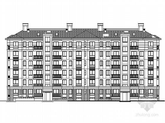 [安徽巢湖]某六层住宅楼建筑施工套图(7号)