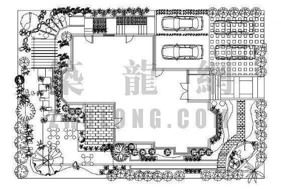 别墅周边景观设计平面图-2