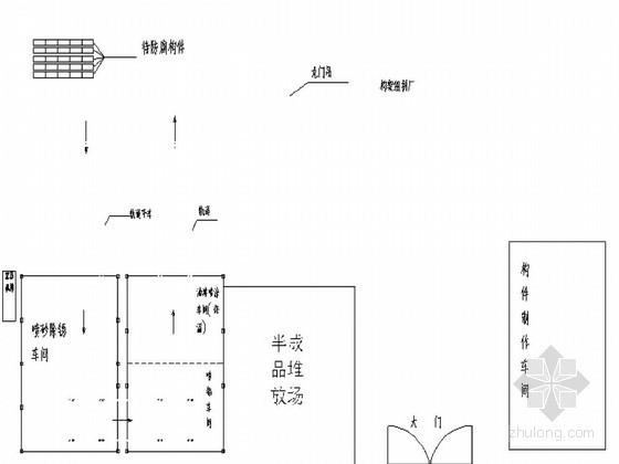 钢结构单元现场流水化防腐工法(双重防腐 封闭处理)