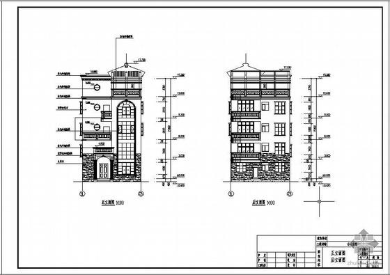 某框架别墅结构设计图(含PKPM计算文件、效果图)