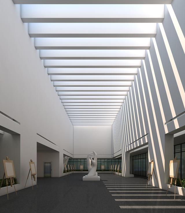 中庭效果图-西安市高陵区综合档案馆第3张图片
