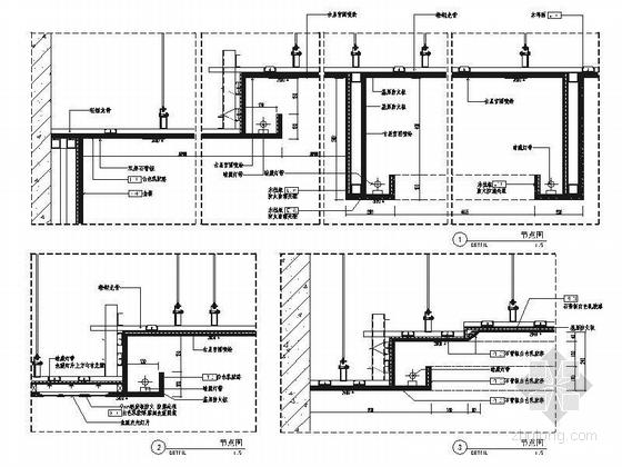 [北京]原创综合医药研究院典雅中式医院装修施工图(含效果)节点图