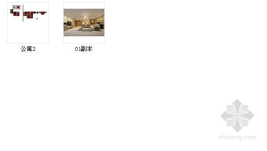[浙江]时尚现代公寓三居室装修图(含效果图) 总缩略图