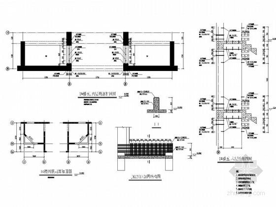 住宅小区碳纤维加固结构施工图