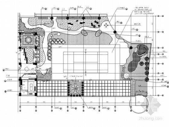 小型建筑屋顶花园景观工程施工套图