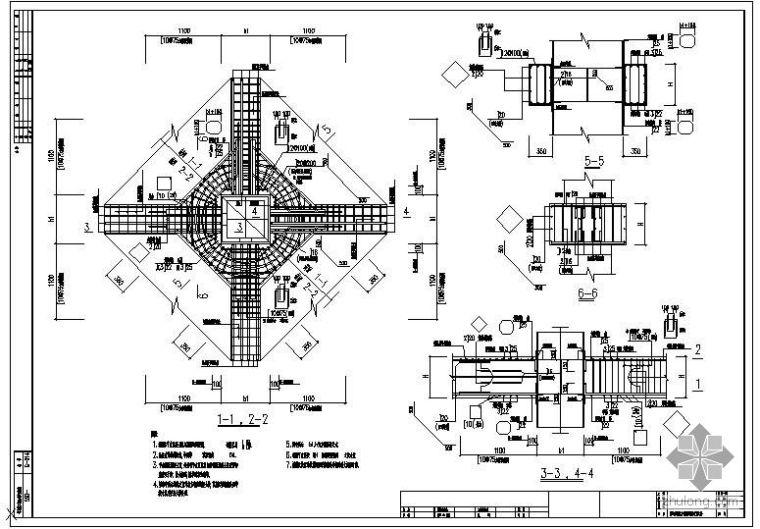 某方钢管混凝土柱配筋大样(图集)节点构造详图