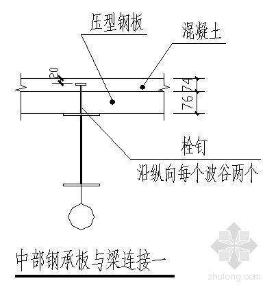 钢承板与梁连接节点详图