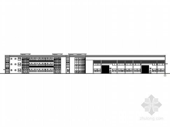 [常州]某工业园三层标准厂房建筑施工图