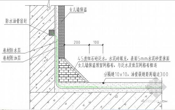 名企编制建筑工程防渗漏强制性标准条文手册(53页 附图较多)