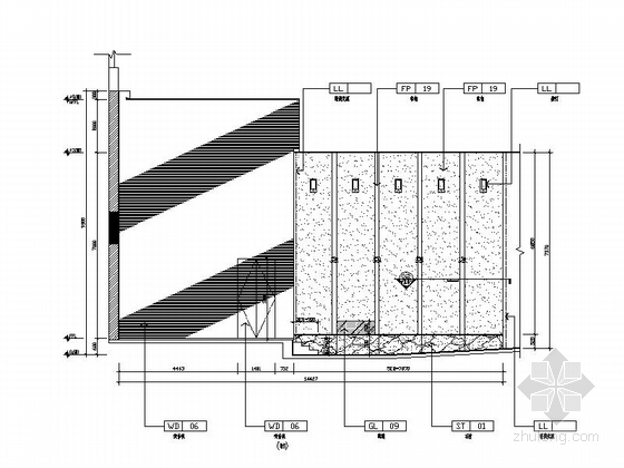 [苏州]工业园区五星级会议酒店报告厅装修施工图 立面图