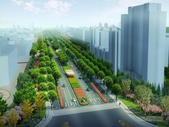 """[江苏]""""岛屿状""""绿化种植滨江特色城市廊道景观规划设计方案"""