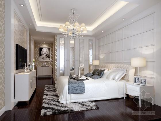 白欧卧室3D模型下载