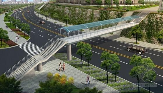 [深圳]市政道路(含人行天桥)工程量清单计价实例(含施工图纸40张)