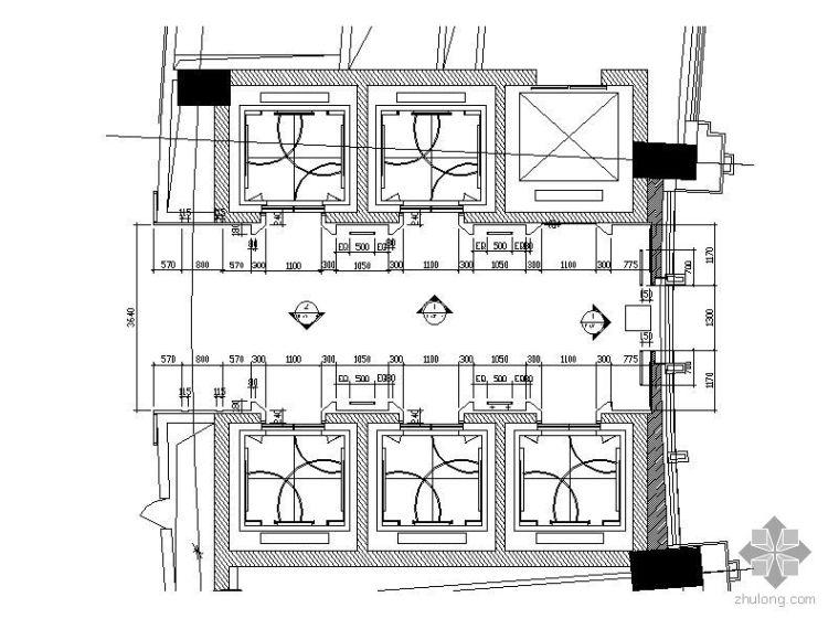 [苏州]洲际酒店电梯厅施工图