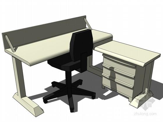 办公桌SketchUp模型下载