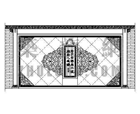 中式造型墙001
