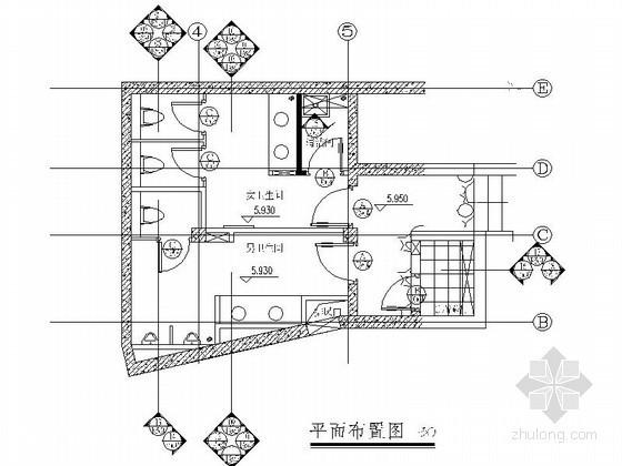 五星级酒店水泵房卫生间装修施工图