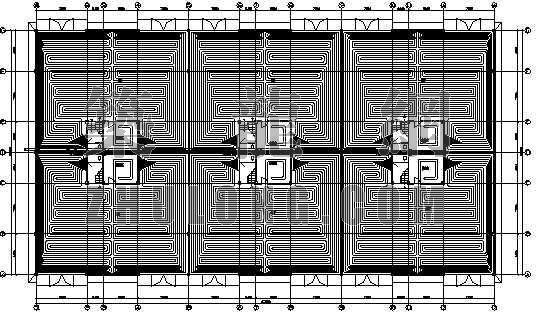 汽车展厅地板采暖设计图