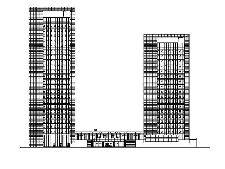 [浙江]超高層塔式連廊辦公樓建筑施工圖