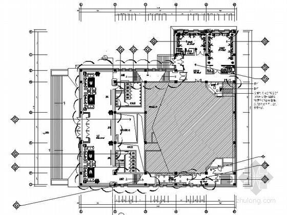 [吉林]现代风格行政服务中心报告厅室内装修图