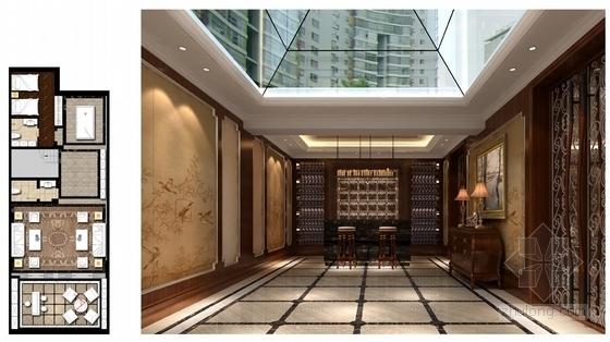 [山西]豪华欧式风格三层别墅室内装修设计方案红酒区