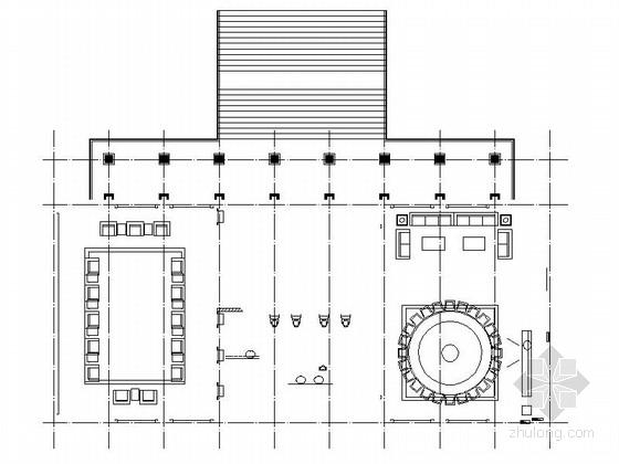 [北京]保障部门高档简欧风格宴会厅装修施工图(含效果)