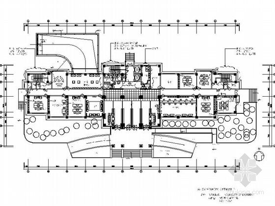 [江苏]甲级设计资质事务所设计豪华商业办公空间施工图(含效果图)