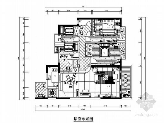 [深圳]简约欧式风格四居室装修图(含效果图)