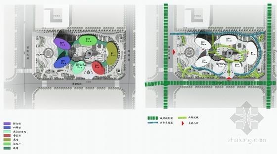 现代风格科研中心规划及建筑设计分析图