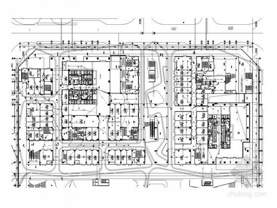 [深圳]超大型商业建筑群全套强电施工图509张(3栋超高层 120万平 裙楼塔楼 安装大样)
