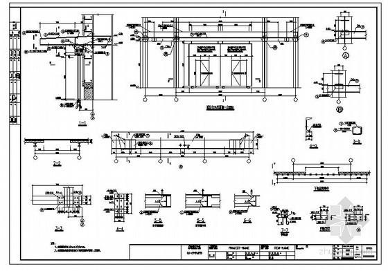 某厂房推拉门及雨篷节点构造详图
