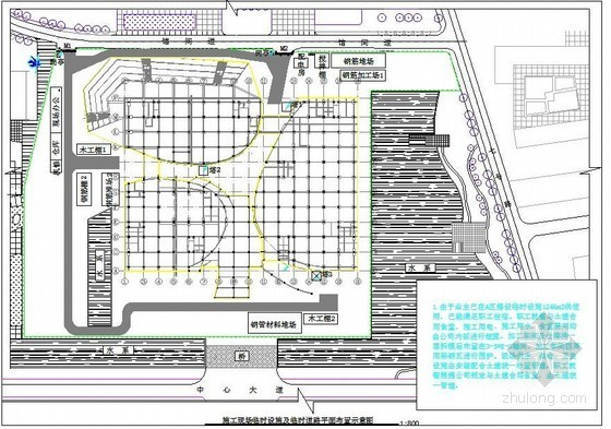 体育馆工程施工现场临设平面布置图
