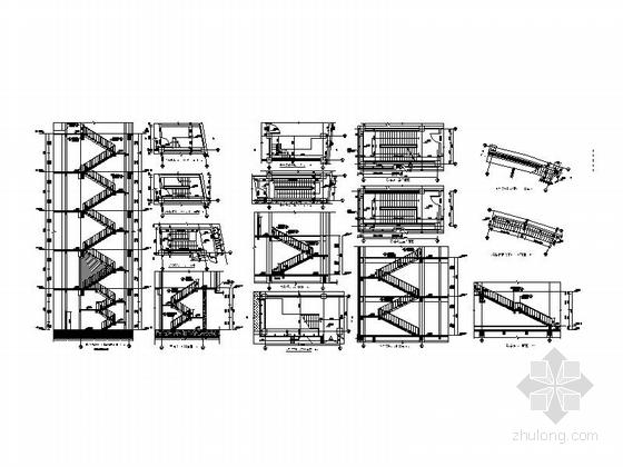 [四川]四层构架屋面弧线型框剪结构县级图书馆建筑施工图-四层构架屋面弧线型框剪结构县级图书馆建筑详图