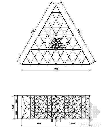 三面网架结构广告牌结构施工图